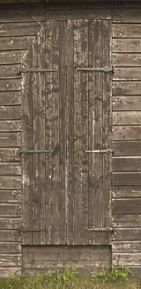 wood planks barn door old